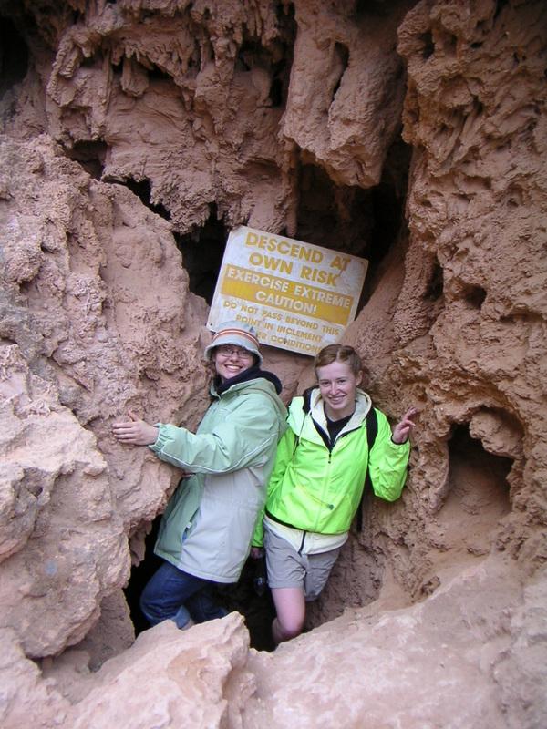 Martha and Audrey at Havasupai