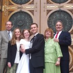 Noel, Audrey, and Parents at SLC temple