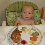 Cooper's first Thanksgiving meal.