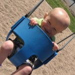 We went to the park and enjoyed the swings.