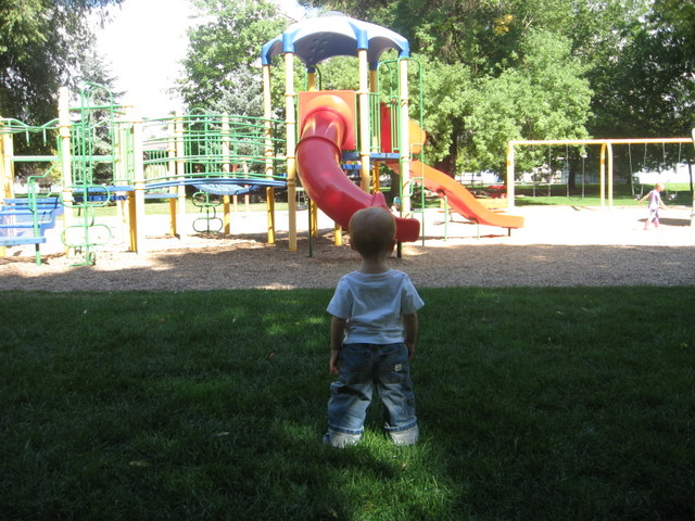 Cooper meets playground. Can you feel the suspense?