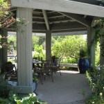 The beautiful gazebo where we enjoyed our picnic lunch.