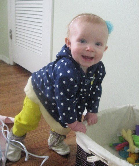 Classic Ellen grin when she's caught making a mess.