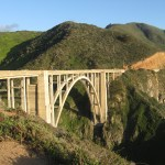 We saw some cool bridges along the coast. This one is the Bixby Bridge.