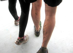 This is how muddy we still were after puddle jumping washed most of it away.