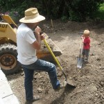 Cooper was a big help with redoing their driveway.