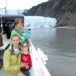 Family picture in front of a tidewater glacier.