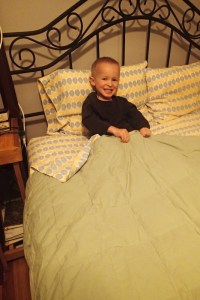 Cooper's in the bed