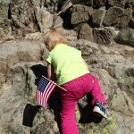 Some patriotic rock climbing.