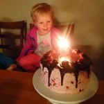 """Ellen patiently waited all day for us to sing """"Happy birthday,"""" but blew out the candles before we finished the song."""