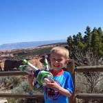 Cooper and Buzz exploring Colorado National Monument.
