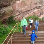 Over Memorial Day weekend, Noel's sister, Vanessa Joy, and her husband, Chris, came to visit. We took them on a soggy trip to Red Rocks.