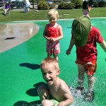 The kids love our weekly playgroup, but they especially loved the day we went to the Splash Pad.