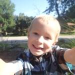 First day of kindergarten selfie. He's such a hip kid.