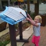 Ellen making music at the Keystone Village.