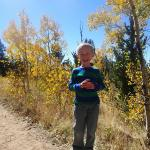 Cooper posing on our hike in Kenosha Pass.