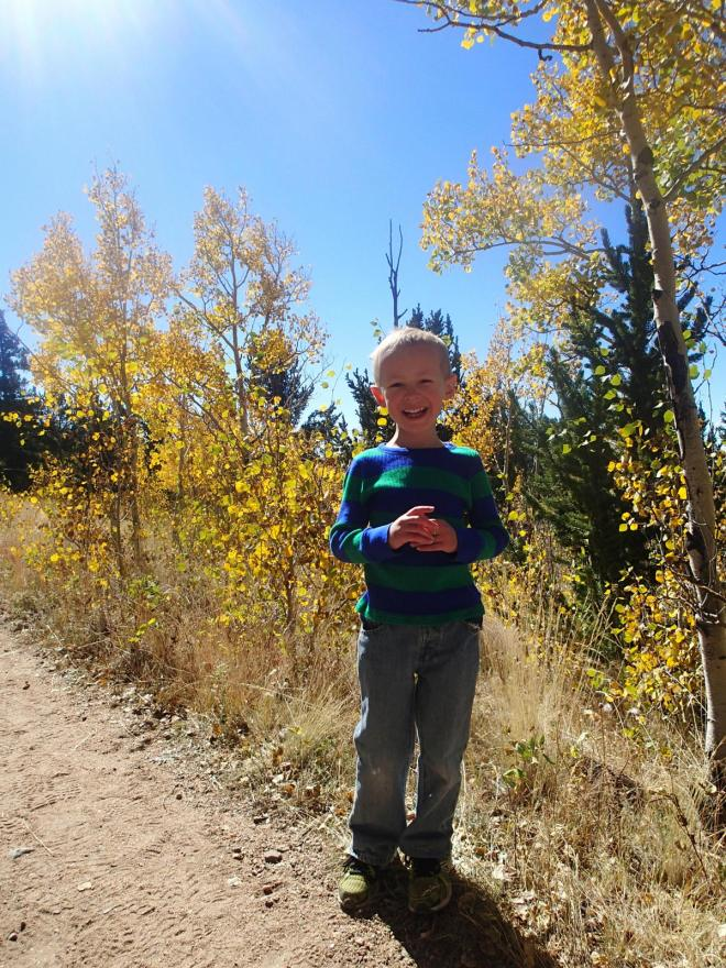Coop and the fall colors