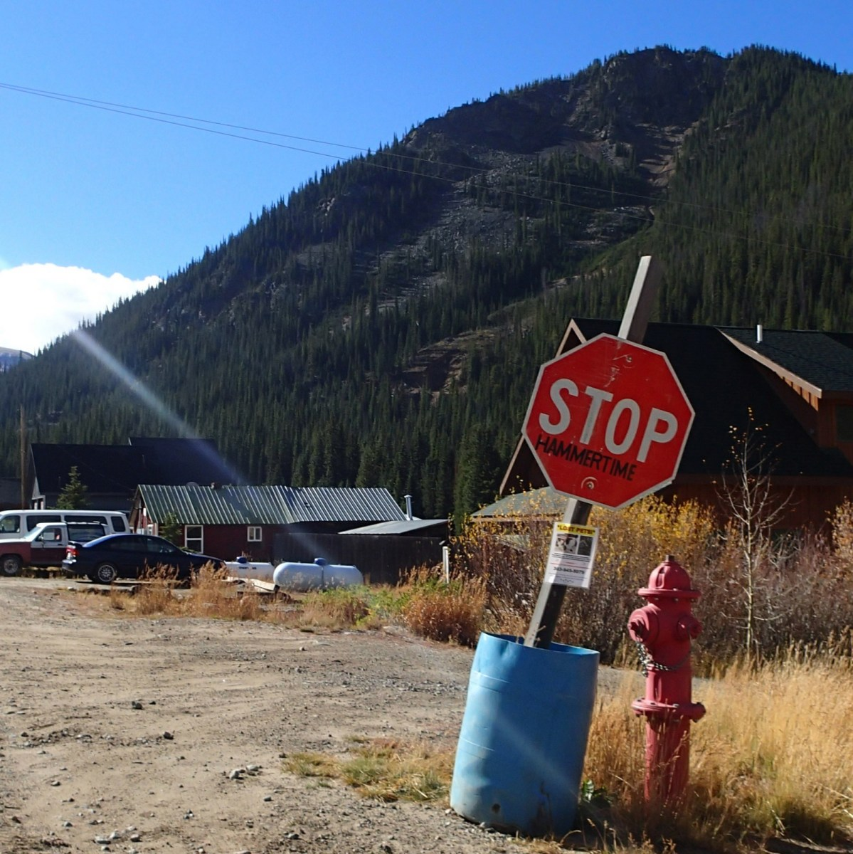 During the Sunday morning session we drove to Montezuma, Colorado to scope some hikes a friend told us about.