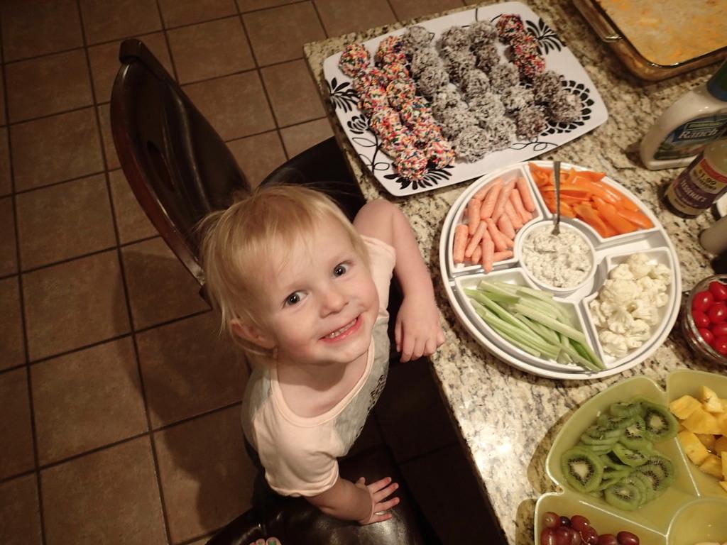 Ellen and the food.