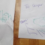 The adorable cards the kids made for each other.