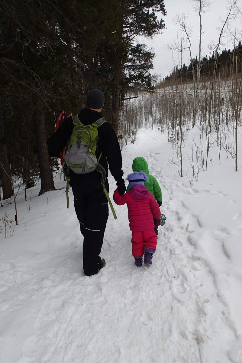 Hitting the snowshoeing trail.
