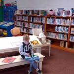The library was cozy and a nice refuge from the windy cold.