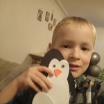 Penguin craft Cooper made with his therapist.