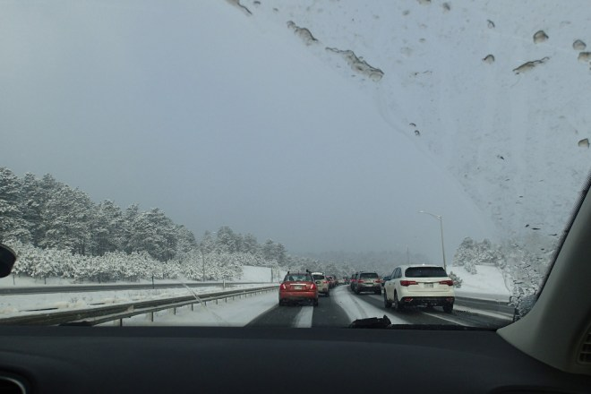 Our drive out of town.