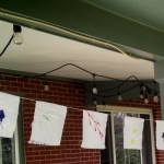 Garden prayer flags for Earth Day.