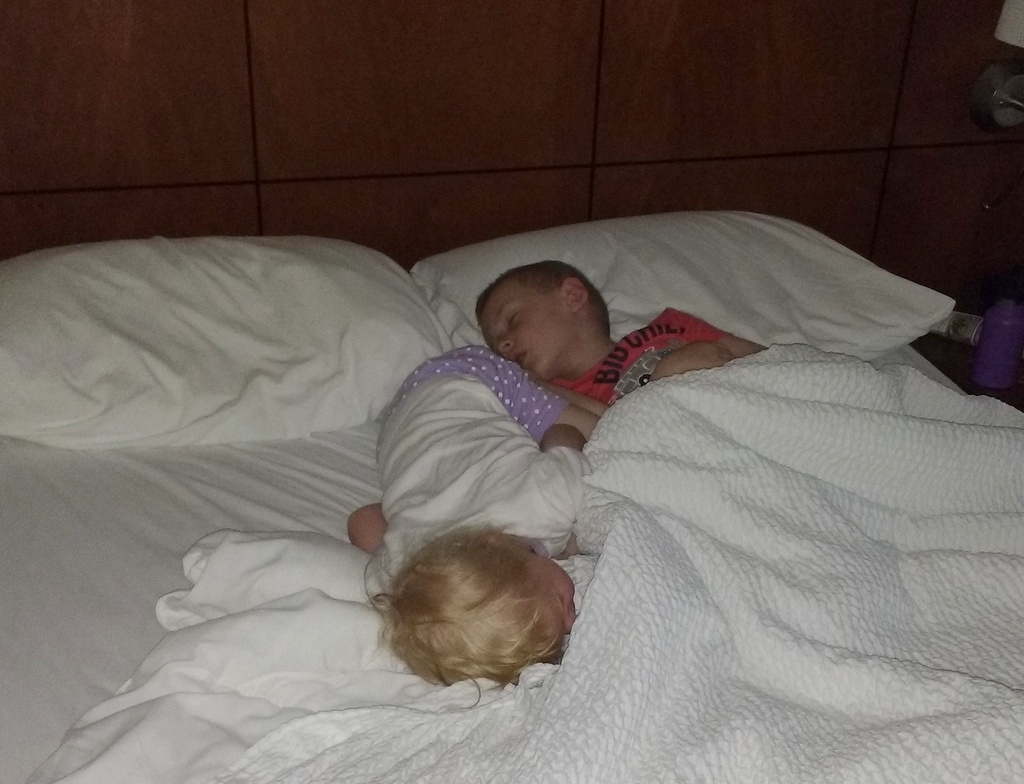 Luckily Cooper is a good sleeper  because he had the pleasure of sharing a bed with Ellen.
