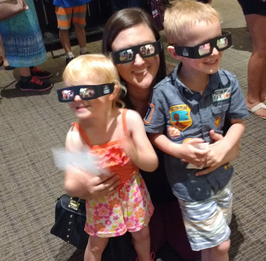 Posing with Aunt Danielle before our 4D movie.