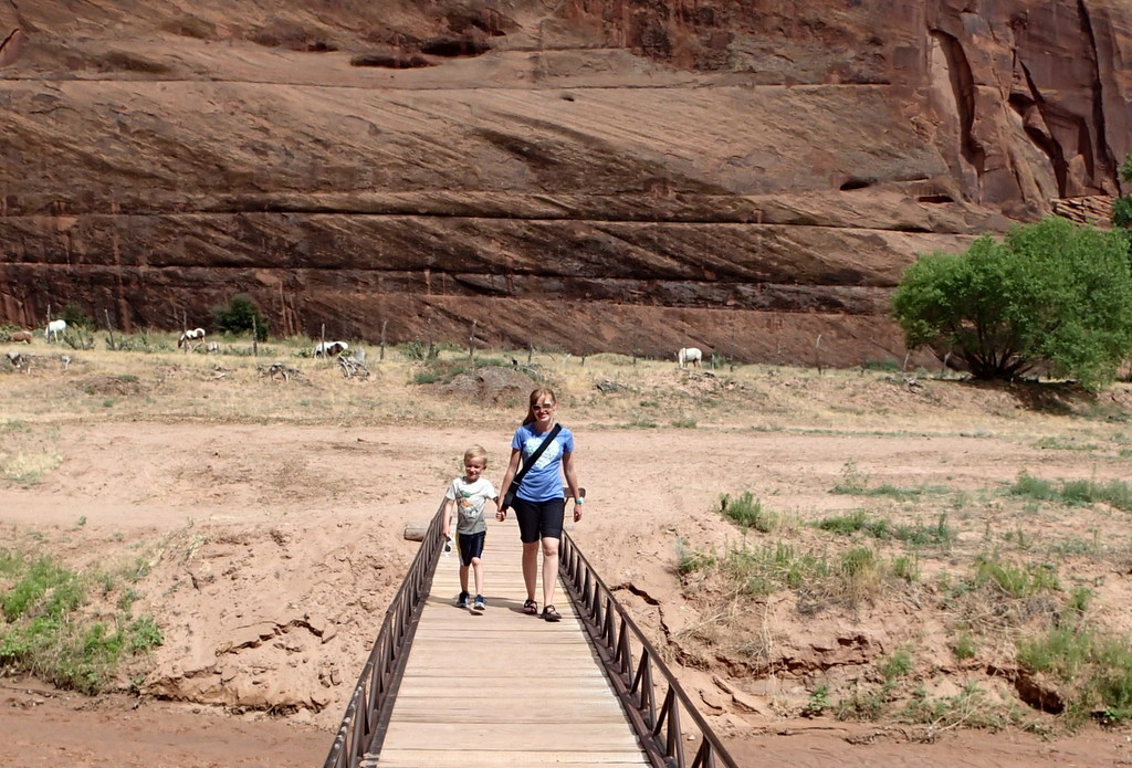 Hiking out of the canyon at Canyon de Chelly.