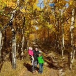 The kids and me in the trees.