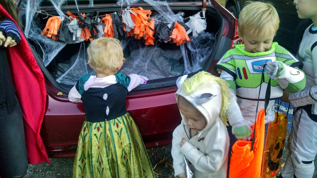We joined cousin Porter at their church's Trunk or Treat.