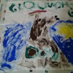 Cooper's Groundhog Day flag.