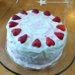 Ellen requested a strawberry cake. This was my interpretation of her dream.