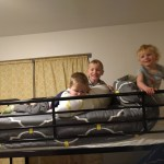 The cousins loved having a sleepover in bunk beds at our VRBO rental.