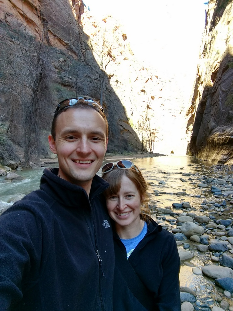 Noel and I at the beginning of the Narrows.