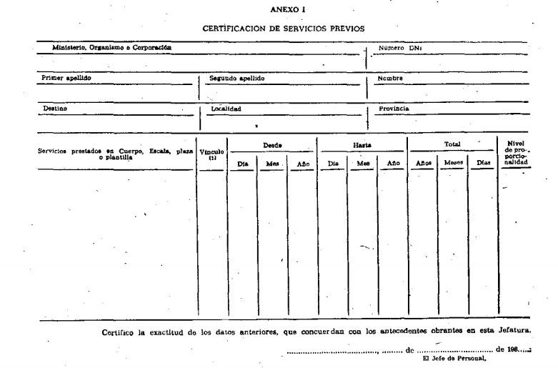 Reconocimiento de servicios previos en la Administración Se