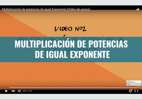 Multiplicación de Potencias de Igual Exponente