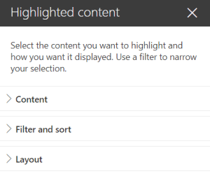 Highlighted Content Web Part - edit pane