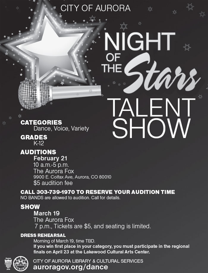 Night of the Stars Talent Show \u2013 Aurora Public Schools