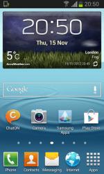 Galaxy S II Jelly Bean - Home Screen