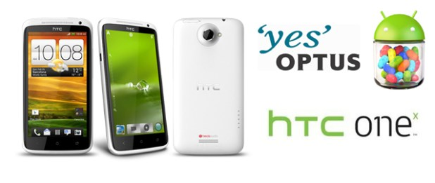 Optus HTC One X Jelly Bean Update