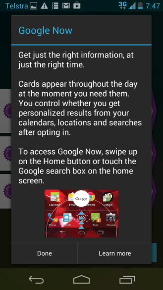 How to access Google Now