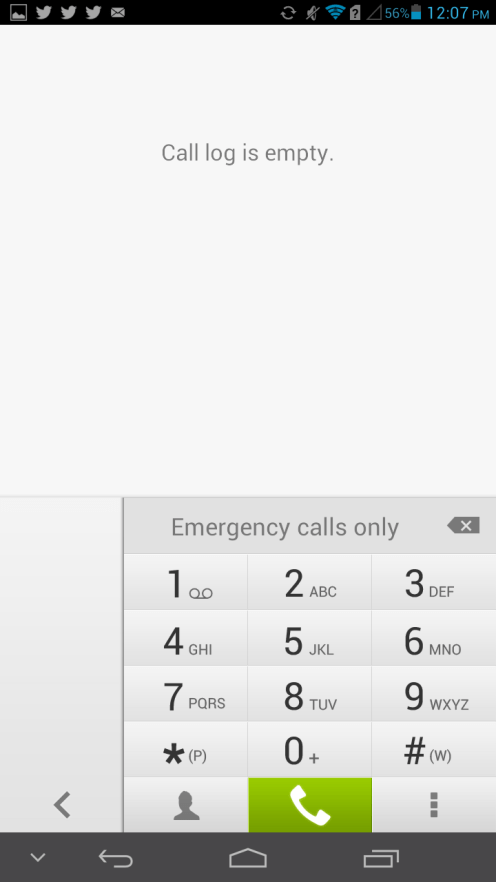 Dialer - Right Hand Mode
