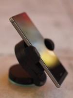 Left side - shown is headset socket / SIM tool