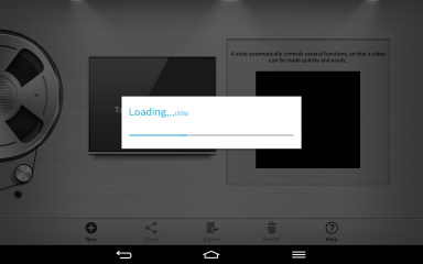 This is what happens every time you launch the video editor. Not really sure why it needs to load for so long.