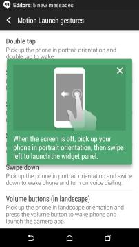 Swipe Left to Widget Panel
