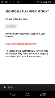 Get the code from Sonos